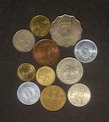 Small selection of coins from Asian countries (40g)