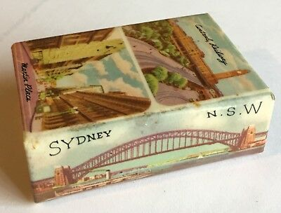Vintage Celluloid Matchbox Cover SYDNEY NSW, Central Railway ,Martin Place ....