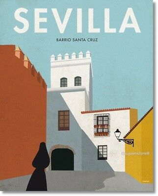 "SEVILLA Vintage Travel Poster Photo Refrigerator Fridge Magnet Size 2""x3"""