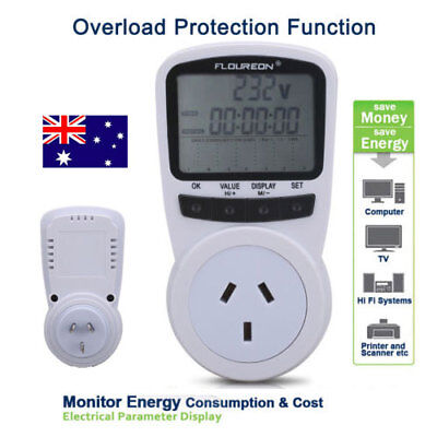 AU Energy Save Power Meter Electricity Usage Monitor Socket Overload Protection