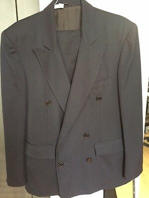 Gerard Firenze - Man's Suit - Dark Blue-Made In Italy-100% Wool - Archivial