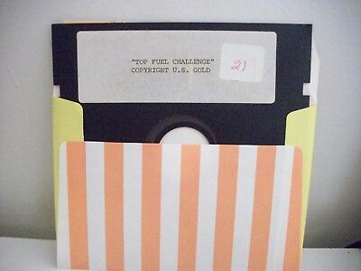 Top Fuel Challenge . U.s. Gold- Commodore 64 / 128 Vintage -  Game - Floppy Disc