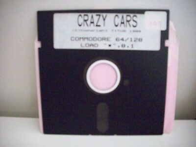 Crazy Cars  Floppy Disc For Commodore 64 / 128  - Vintage