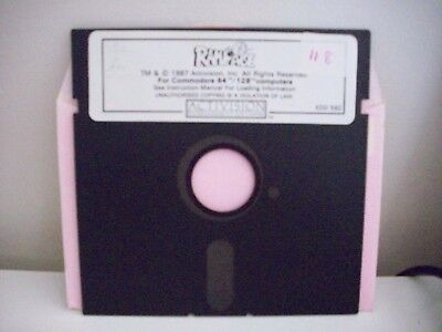 Rampage Game Activision Floppy Disc- For Commodore 64 / 128 Computer-Vintage