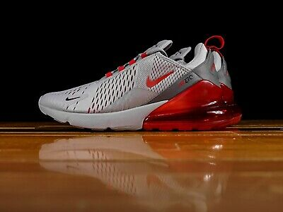 NIKE AIR MAX 270 Wolf Grey University Red Brand New In Box