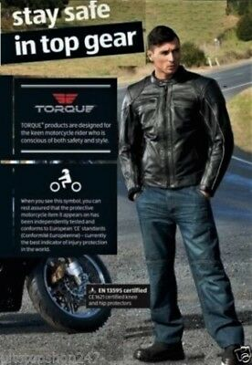 Torque Motorcycle Aramid Lined Denim Jeans Knee Ce Armour Size: 38Xl