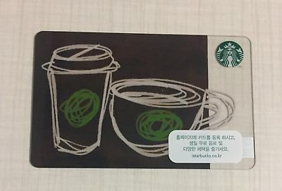 Starbucks Korea 2018 Chalk Cup Card