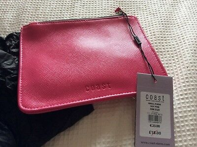 Coast Hot Pink Purse Clutch Pouch New With Tags