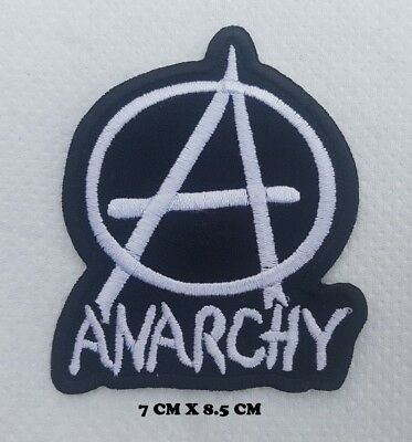 ANARCHY PUNK ROCK MUSIC Embroidered Sew On iron on patch No-445
