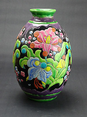 A Very Large - Belgian Boch Keramis vase - model number D2076