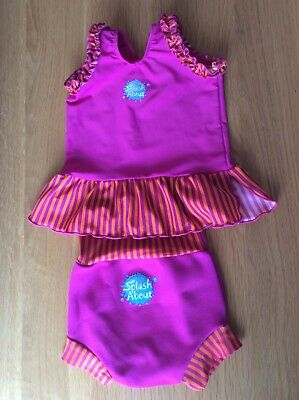 Splash About Original Happy Nappy With Frou-Frou Top, Medium (3-6 Months)
