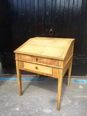Antique French Writing Desk With Lift Up Lid
