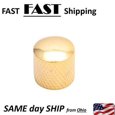 Gold Plated Metal Tone Volume Control Knob Chrome For Electric Guitar Bass Parts
