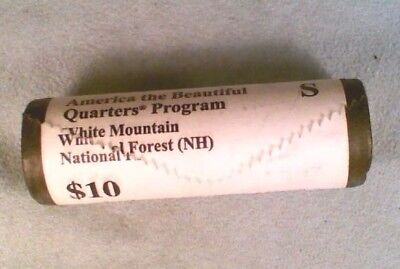 2013-S White Mountain National Forest Park Quarters - $10 Mint Wrapped Roll