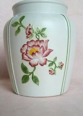 Radford pottery balaster vase with embossed hand painted flowers