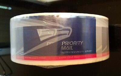 USPS Priority Mail Packing Tape Eagle Logo Label #106-March 2016 1 Roll New