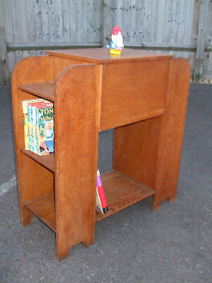 Original 1930s Art Deco oak bookcase, double ended, very neat and practical