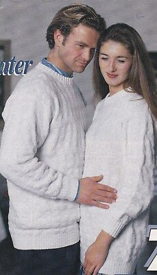 Lady's & Man's Garter Carriage Sweater Pattern For Machine Knitting