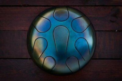 Trommel HandPan Drum Steel Hank Tongue  Handmade Ethno Folk 22 cm
