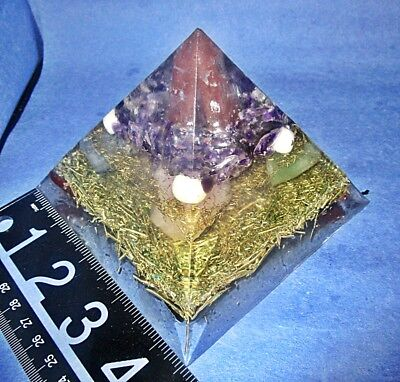 "3 1/2"" h Orgone Pyramid Fused w/ALCHEMY Calls to it's intended person to help!"