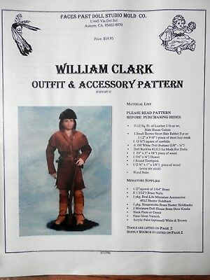 Faces Past William Clark Outfit & Accessory Doll Pattern FP201OP