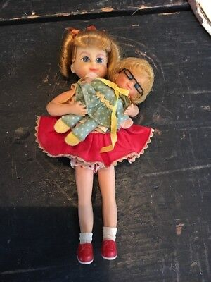 Amazing 1965 Vintage Family Affair Buffy Mrs. Beasley Doll Set