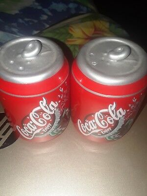 Coca Cola Coke Salt and Pepper Shakers Can Style