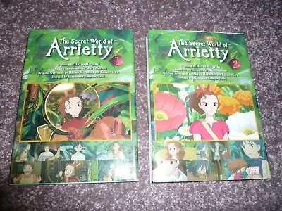 2 x The Secret World of Arrietty (Comic/graphic novel) Vol.1 & 2 Miyazaki Ghibli