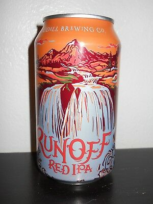 ODELL BREWING ~ RUNOFF RED ~  BEER CAN ~ Fort Collins Colorado Craft Brewery