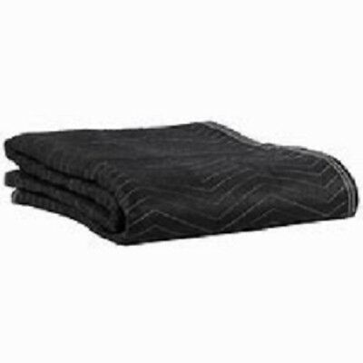 "Moving Blanket 40"" x 72"" Pro Quilted Black Shipping Furniture Pad Heavy-Duty"