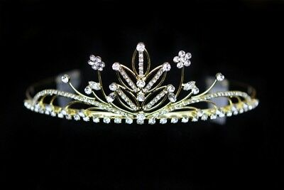 Diadem Tiara Headband Wedding Luxury Gold Color