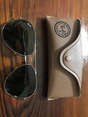 Vintage Ray Ban Bausch & Lomb Aviator Shooting Glasses With Case