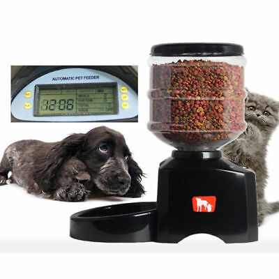 5.5L LCD Automatic Pet Feeder Dog Cat Programmable Food Bowl Auto Dispenser