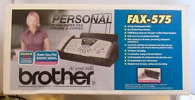 New Sealed Brother FAX-575 Personal Plain Paper Fax Phone & Copier