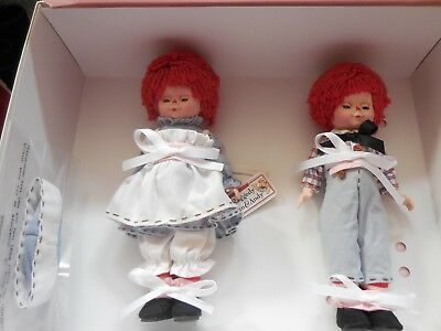 """Madame Alexander 8"""" Raggedy Ann and Andy Set #47745"""