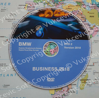BMW UPDATE DVD Road Map Europe BUSINESS 2018 DVD 2 CENTRAL EAST ...