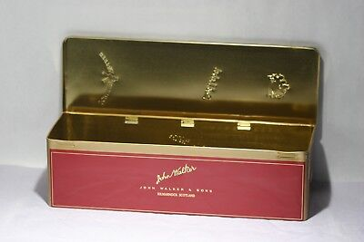 RARE Johnnie  Walker Whiskey Red Label  Metal Empty Box 750 ML