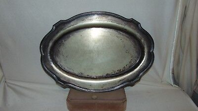 "Vintage Lawrence B Smith Silver Plate 18"" Oval Serving Tray  554 N.s L.b.s. Co"