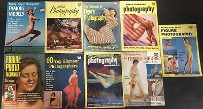 9 Glamour Photography Books 1950's Fawcett How To Whitestone Bunny Yeager