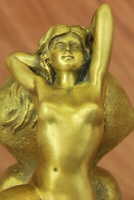 Hand Made Bronze Beautiful statue of an Egyptian Queen CLEOPATRA  SPHINX Statue
