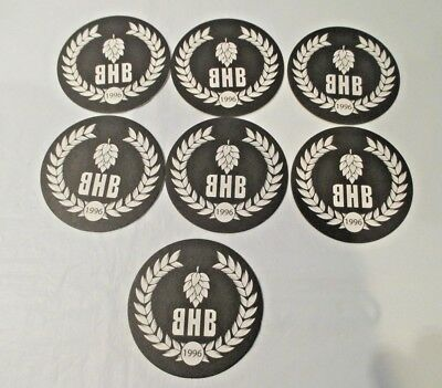 7 - BRICKHOUSE BREWERY BEER COASTERS - Patchogue, New York, Long Island NY