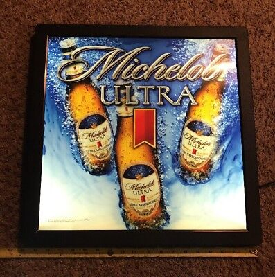 Michelob Ultra Beer Sign Light Advertising Lighted Sign Miller bud Bar Nice!