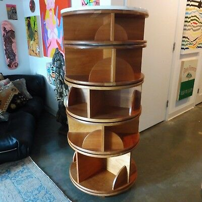 Top Of The Line Levenger Five Stack Revolving Book Case With Marble Top