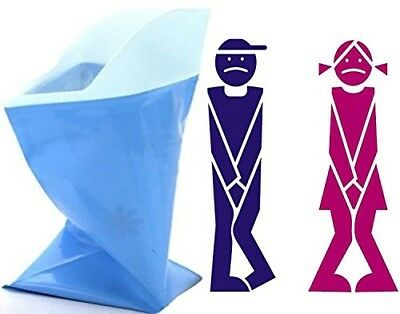 ToBe-U Unisex Men Women Children Brief Relief Disposable Urinal Bags Super