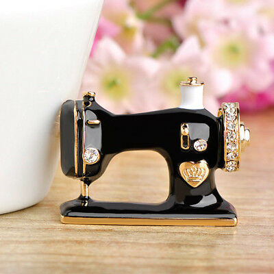 Gifts Pin For Suit Black Sewing Machine Brooch Jewelry Enamel Brooch