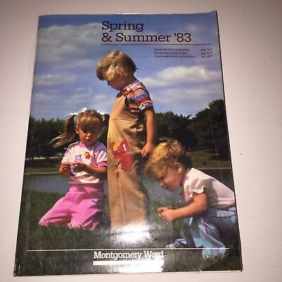 Montgomery Ward Spring & Summer 1983 Catalog Book Vintage