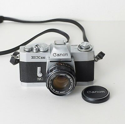 Canon EXee film SLR camera with 50mm f/1.8 lens