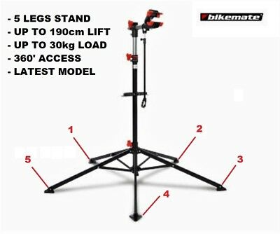 Bicycle Bike Repair Work Stand Rack 5 Legs New Model Working Height 108-190Cm