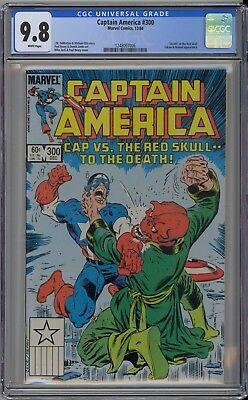 Captain America #300 CGC 9.8 NM/MT Wp Vs. Red Skull To The Death! Marvel 1984