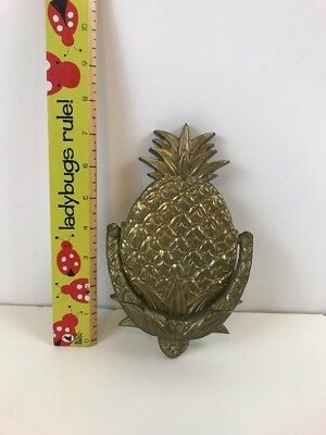 Vintage Antique Pineapple Brass Door Knocker Heavy Well Made Highly Detailed